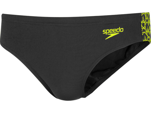 speedo Boomstar Splice Slip 7cm Homme, black/fluo yellow
